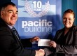 Brian Gallacher, managing director of Pacific Building Ltd, with Louise Strachan, funding administrator of St Vincent's Hospice