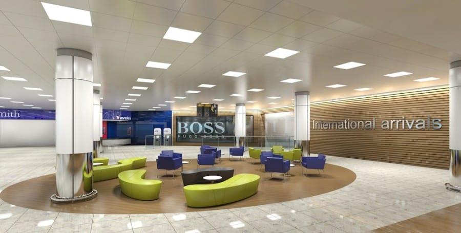 Glasgow Airport International arrivals hall, artist's impression