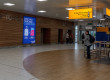 Departures feature wall, Glasgow International Airport