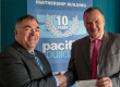 Brian Gallacher, MD of Pacific Building, and Kenneth Mathie, fundraising manager of Accord Hospice, PAisley