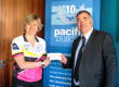 Quadruple amputee Corinne Hutton and Pacific Building Managing Director Brian Gallacher