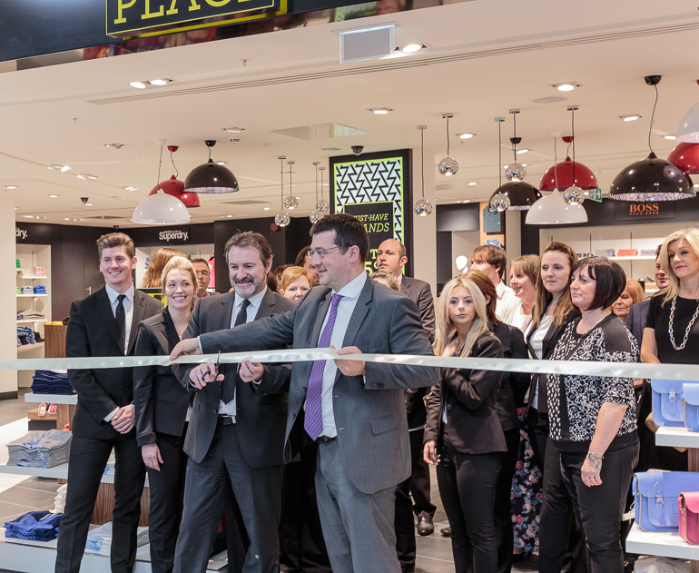 Finn Casey and Francois Bourienne open the Fashion Place at Glasgow International Airport
