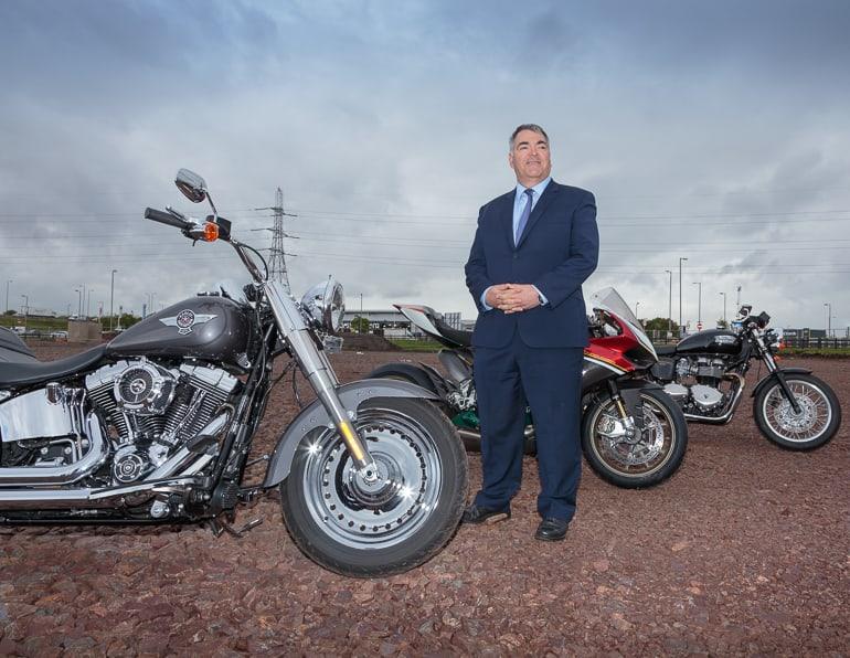 Pacific Building Managing Director Brian Gallacher, Ducati, Harley-Davidson, Triumph, Hillington Park