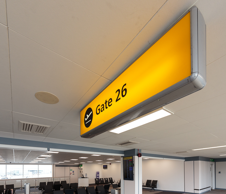 Gate 26 Glasgow International Airport, Pacific Building