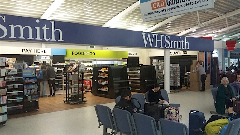 WH Smith Inverness Airport Pacific Building