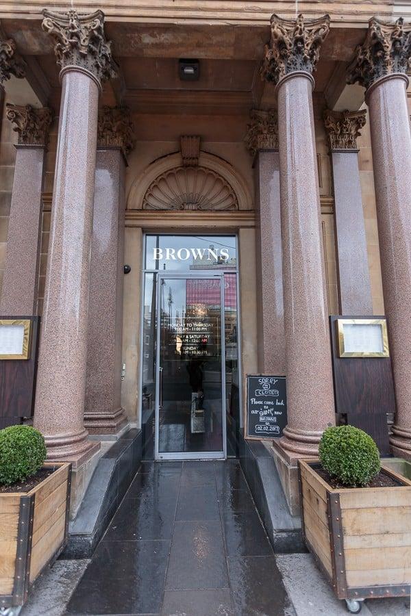 Browns brasserie Glasgow Pacific Building