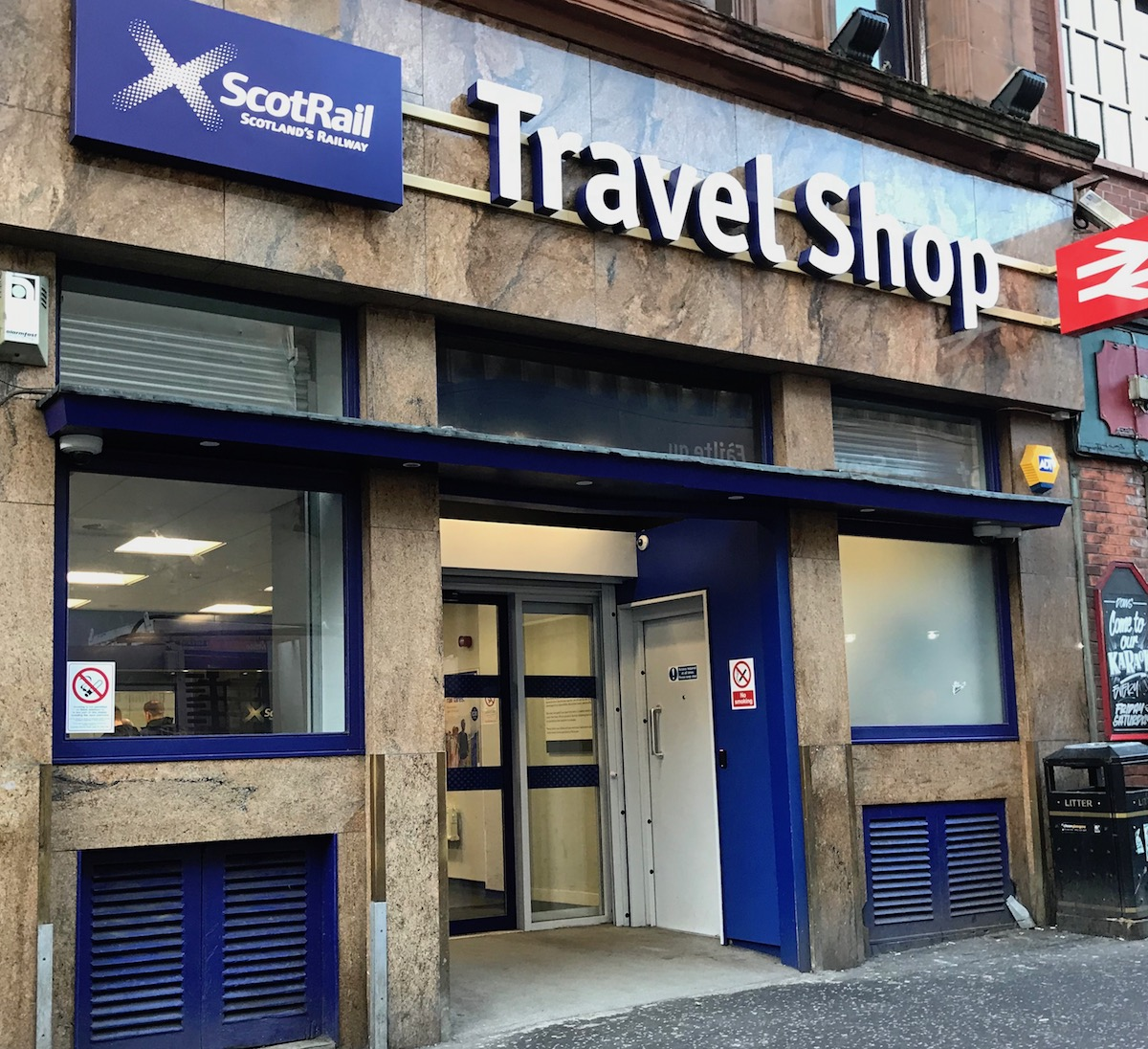 Scotrail Travel Shop ticket office Dundas Street/Queen Street, Glasgow
