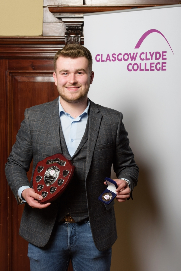 Connor Skea Apprentice of the Year Glasgow Clyde College