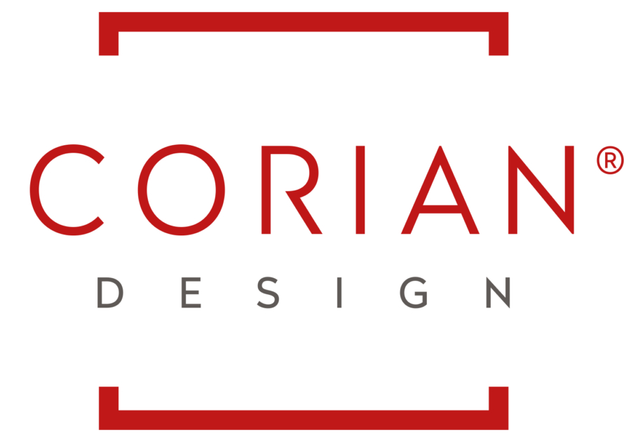 Corian corporate logo red and white